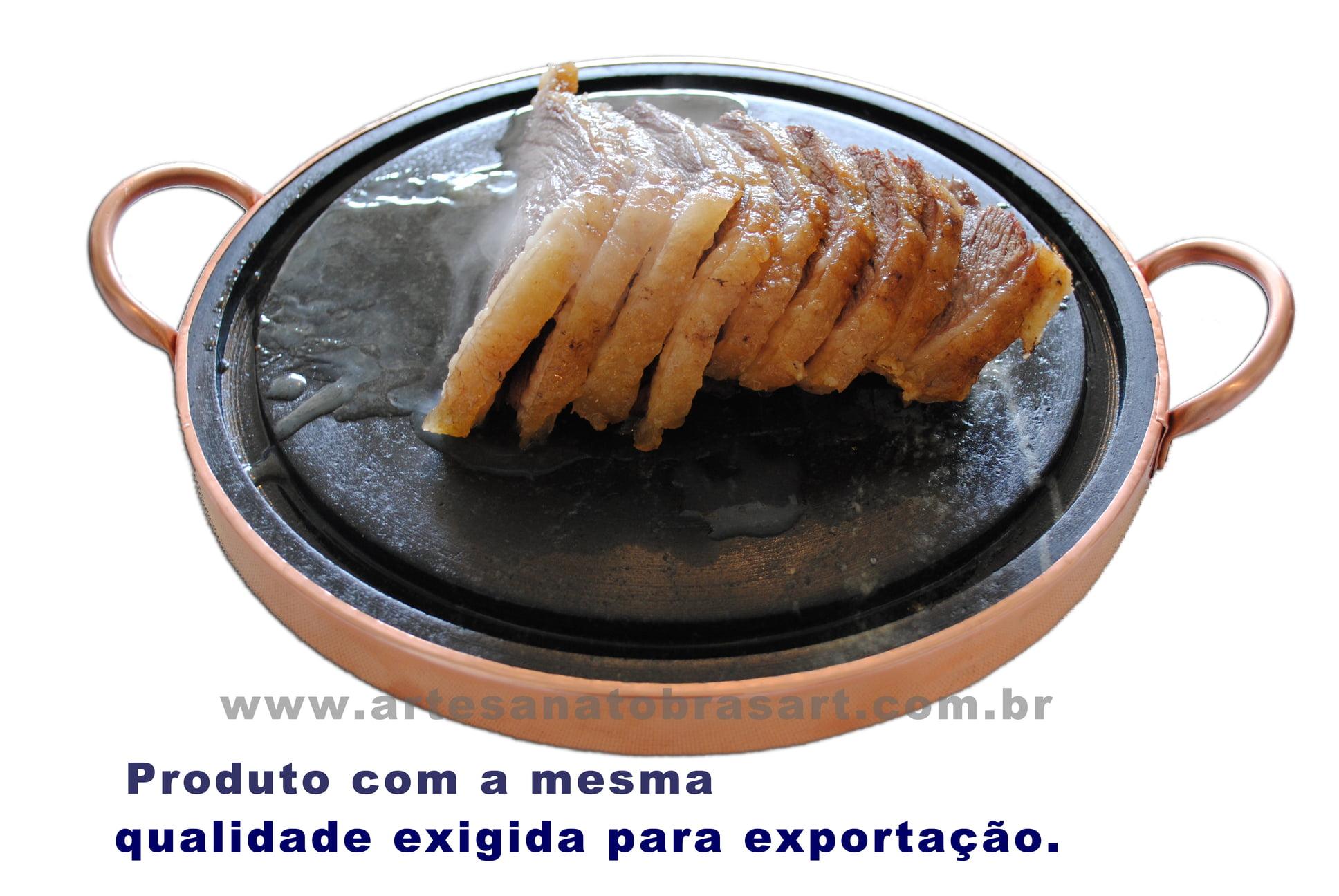 Grelha Para Carne De Pedra Sabão 31 Cm De Diâmetro curada