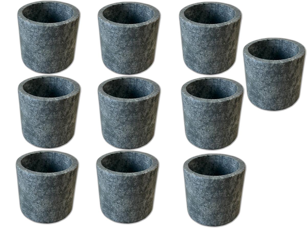 Kit 10 copinhos de dose de pedra sabão