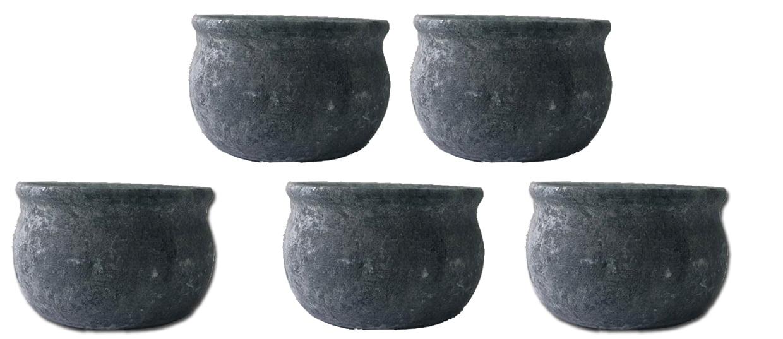 Kit 5 tigelas em pedra sabão