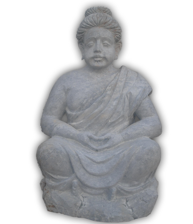 Buda Grande Esculido Na Pedra Sabão Resiste A Sol E Chuva