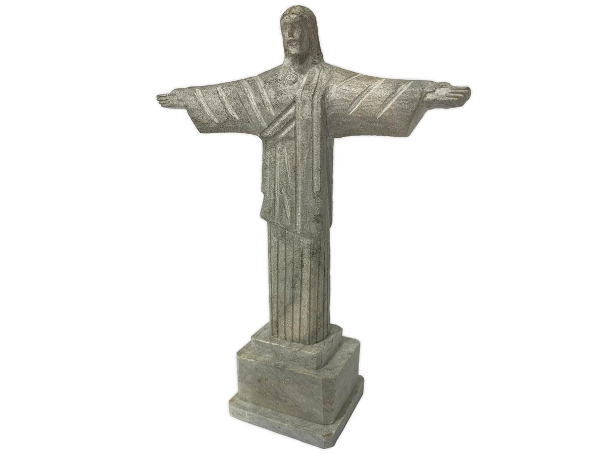 Cristo redendor replica de pedra sabão medio  19 centímetros de altura