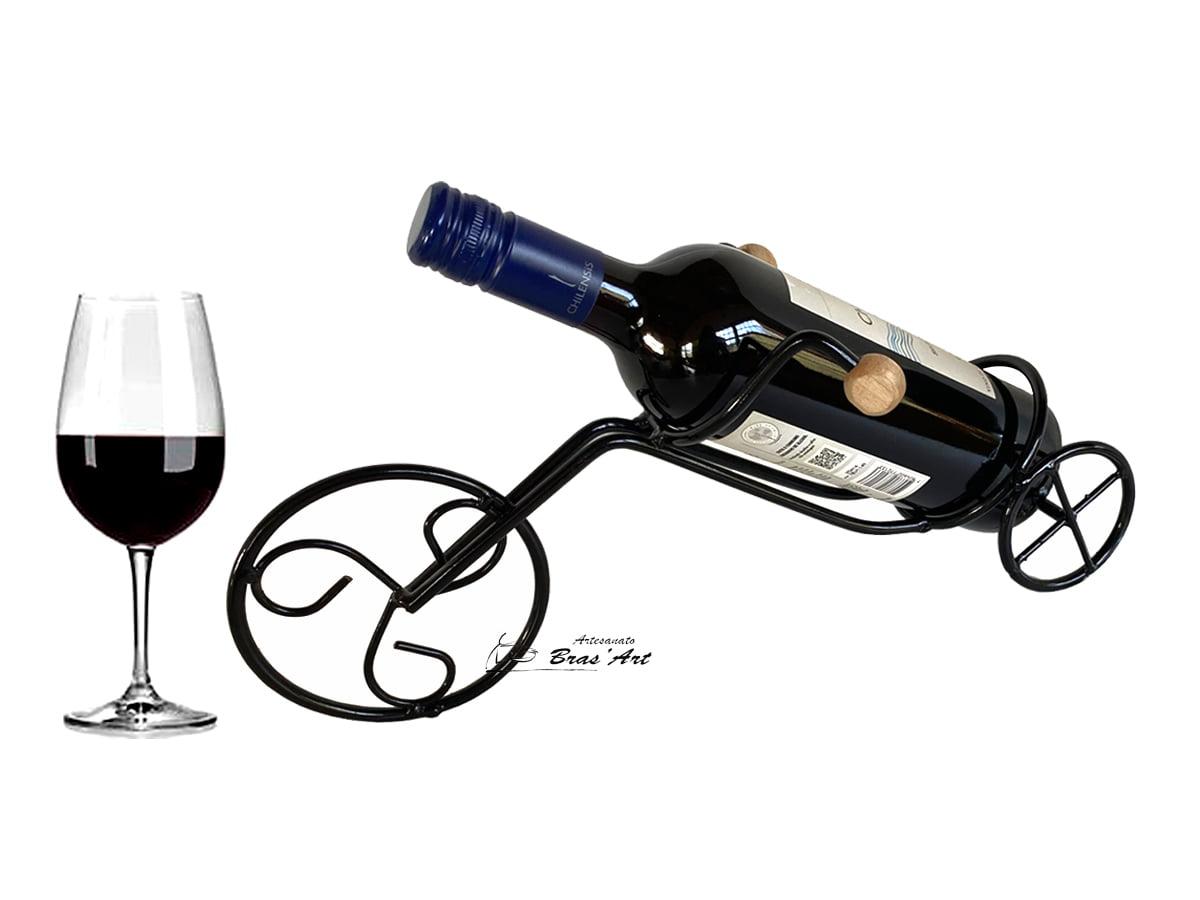 Suporte de ferro formato de bicicleta  com pintura eletrostatica  para vinho