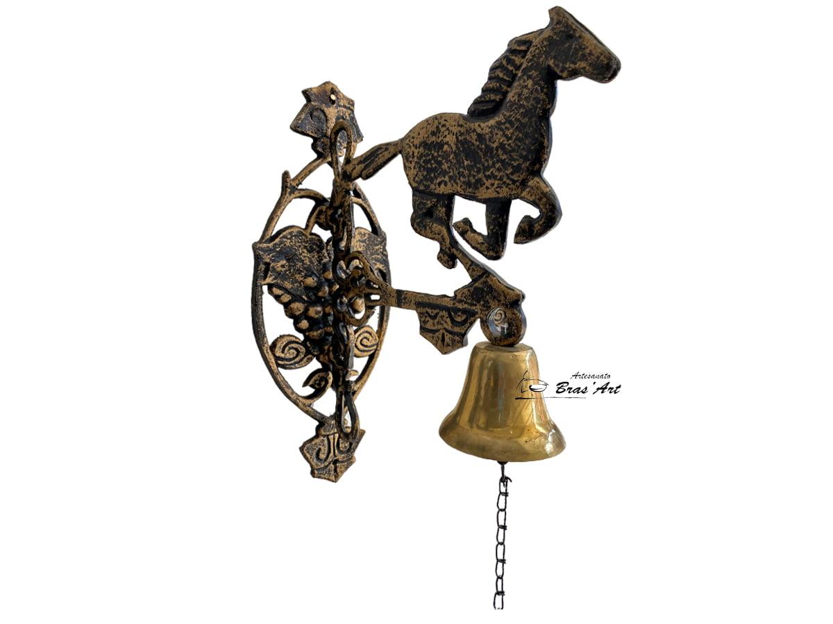 sino cavalo parede bronze maciço