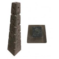 Incensário e Luminária triangulo de Pedra Sabão