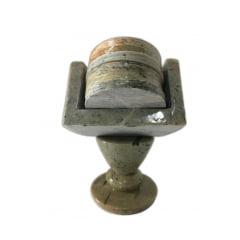 Porta copo em pedra sabão com suporte