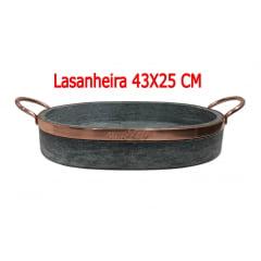 Kit com 5 Lasanheira assadeira em pedra sabão