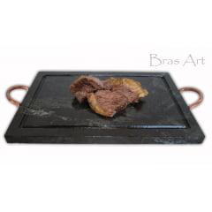 Chapa  para grelhar  carne em Pedra Sabão 37x25 centímetros