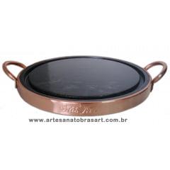 Grelha Para Carne De Pedra Sabão 23 Cm De Diâmetro