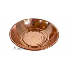 Panela de cobre 4 litros com rechaud e banho maria