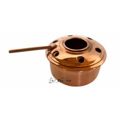 Rechaud fogareiro de bronze e cobre