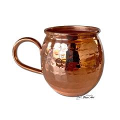 Caneca de cobre puro envernizado martelado   ideal para cerveja 400 ml