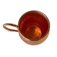 Caneca de cobre puro envernizado ideal para cerveja 400 ml
