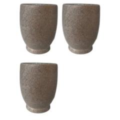 Kit com 3 copinhos de dose natural em pedra sabão