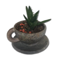 Kit com 3 xícaras em pedra sabão