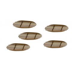 Kit 5 suporte de madeira para panelas ,formas e grelhas