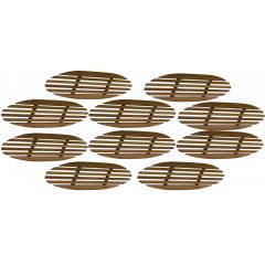 Kit com 10 suporte de madeira para panelas, formas e grelhas