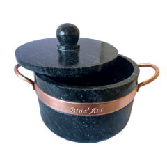 Fondue De Pedra Sabão 1,5 Litros Ideal Para Queijos  e Chocolate