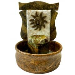 Fonte Chafariz Sol Em Pedra Sabão