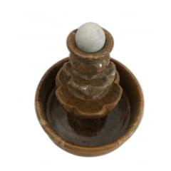 Fonte com bolinha giratória em  pedra sabão