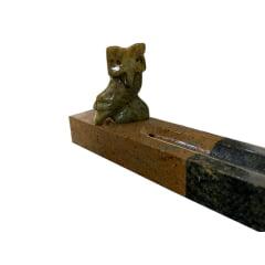 Incensario vareta curuja de pedra sabão