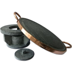 Kit 3 fondue para carne em pedra sabão 31 centímetros