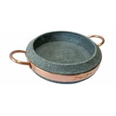 Frigideira em Pedra sabão com tampa de pedra sabão