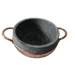 Panela de 1,5 litro em pedra sabão