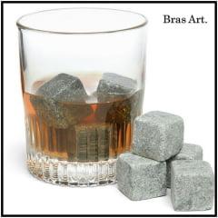 Pedra De Gelo Kit Com 5 Cubos. Mantém Sua Bebida Gelada