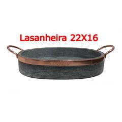 Kit com 4 Lasanheira assadeira em pedra sabão