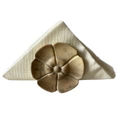 Porta guardanapo de pedra sabão formato flor