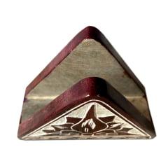 Porta guardanapo decorado de pedra sabão