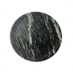 Kit Com 3 Pratos Raso Em Pedra Sabão 24 Cm De Diâmetro