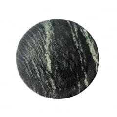 Kit Com 3 Pratos Raso Em Pedra Sabão 28 Cm De Diâmetro