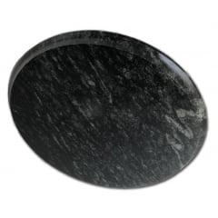 Kit Com 4 Pratos Raso Em Pedra Sabão 28 Cm De Diâmetro