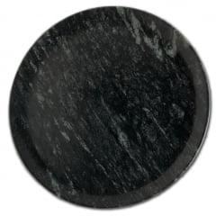 Kit Com 7 Pratos Raso Em Pedra Sabão 28 Cm De Diâmetro