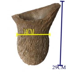 Vaso Rustico Em Pedra Sabão para plantas