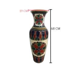 Vasos decorado em pedra sabão grande
