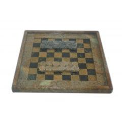 Jogo de Xadrez 2 beiral em pedra sabão xadrez e dama